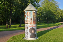PETERHOF, RUSSIA. A poster curbstone of Morris Stock Photo