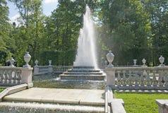 Peterhof. Russia. The Pyramid Fountain Royalty Free Stock Photos