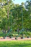 PETERHOF, RUSSIA. Rings gymnastic (complex of gymnastic games), Alexandria park Stock Photos