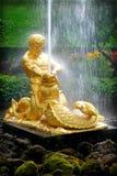PETERHOF, RUSSIA  Samson - the central fountain Stock Photos