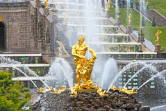 Peterhof. Russia. The Samson Fountain Royalty Free Stock Image