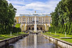 Peterhof, Russia (UNESCO World Heritage) Stock Image
