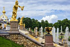 Peterhof, Russia (UNESCO World Heritage) Stock Photo