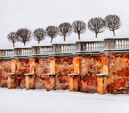 Peterhof. Russia. Wall and rampart Stock Photography
