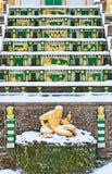 Peterhof Russie Allégorie de la sculpture en rivière de Volkhov Images stock