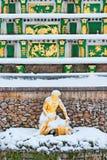 Peterhof Russie Allégorie de Neva River Sculpture Photo stock