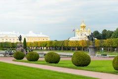 Peterhof Russie Le jardin supérieur Photo libre de droits