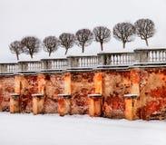 Peterhof Russie Mur et rempart Photographie stock