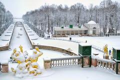 Peterhof Russland Der untere Park Lizenzfreie Stockbilder