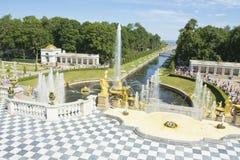 Peterhof Ryssland Arkivfoton
