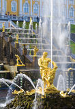 Peterhof. Samson Fountain and the Grand Cascade. Peterhof near St.-Petersburg, Russia royalty free stock photos