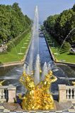 Peterhof, Samsonovsky channel Stock Images