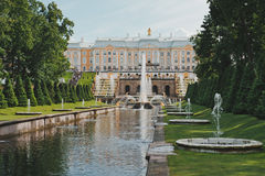 Peterhof, Sea channel  Royalty Free Stock Images