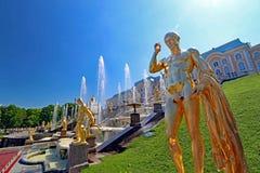 Peterhof a St Petersburg in Russia Fotografie Stock Libere da Diritti