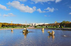 Peterhof, St. Petersburg. The Upper Park Stock Photos
