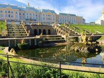 Peterhof Toeristische attractie van Rusland op de rand van St. Petersburg royalty-vrije stock fotografie