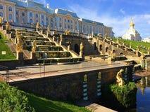 Peterhof Touristenattraktion von Russland auf den Stadtränden von St Petersburg stockbilder
