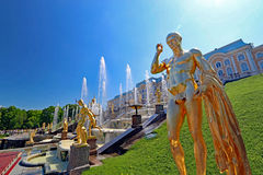 Peterhof w St Petersburg w Rosja zdjęcia royalty free