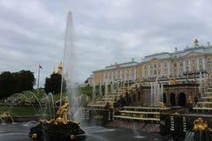 Peterhoff宫殿,圣彼得堡 图库摄影