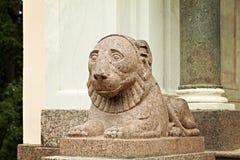 Peterhofpaleis Heilige Petersburg Rusland Leeuw Stock Foto's