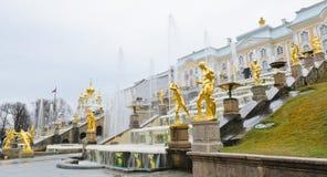 Peterhofpaleis, Rusland Stock Foto's