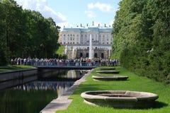 peterhofpetersburg rus för kaskad storslagen st Royaltyfri Fotografi