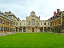 Peterhouse College at the University of Cambridge. Courtyard view of the historic Peterhouse College, the oldest college at the University of Cambridge Stock Image