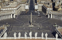 peters Ρώμη τετραγωνικό ST Βατικα&n Στοκ φωτογραφία με δικαίωμα ελεύθερης χρήσης