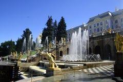 Peters Palast bei Peterhof, St Petersburg, Russland Stockfotografie