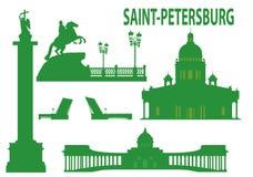 petersburg świętego linia horyzontu ilustracja wektor