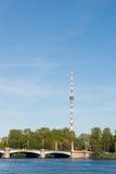 petersburg świętego wierza tv Fotografia Royalty Free