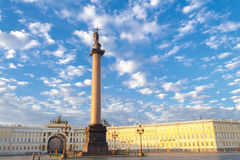 Petersburg. Alexander Column. Royalty Free Stock Photo