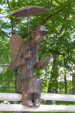 Petersburg angel. Located near the embankment next to the Youth Theatre, Izmailovo garden in St. Petersburg Stock Photos