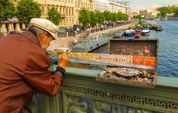 Petersburg. Anichkov Bridge. Stock Photo