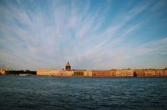 petersburg bridżowy okhtinsky święty Russia Fotografia Stock