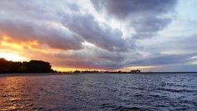 petersburg för lampa för kustaftonfinland golf st Arkivfoto