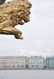 Petersburg lion. At the Neva river Royalty Free Stock Images