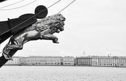 Petersburg lion Royalty Free Stock Photo