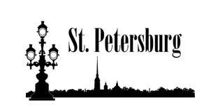 Petersburg miasto, Rosja St Peter & Paul podróży Katedralny Rosyjski tło royalty ilustracja