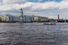 Petersburg , Neva river Royalty Free Stock Images