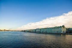 Petersburg neva. River Neva in Petersburg Russia Royalty Free Stock Photo