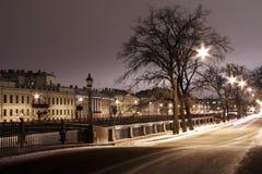 petersburg rive st-vinter Arkivbilder