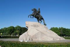 Petersburg Rosja, Czerwiec, - 02, 2016: Brązowy jeździec zdjęcie royalty free