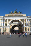 Petersburg Rosja, Czerwiec, - 03, 2016: Bramy Aleksander kwadrat zdjęcie royalty free