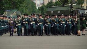 Petersburg Rosja, Czerwiec, - 20, 2019: Rosyjscy wojsko żołnierze zdjęcie wideo