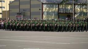 Petersburg Rosja, Czerwiec, - 20, 2019: Rosyjscy wojsko żołnierze zbiory