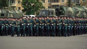 Petersburg Rosja, Czerwiec, - 20, 2019: Rosyjscy wojsko żołnierze zbiory wideo