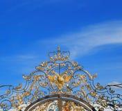 Petersburg Rosja, Czerwiec, - 29, 2017: Troutsky wioska catherine pałac Petersburg Russia selo st tsarskoe złoty orzeł na bramach Zdjęcia Royalty Free