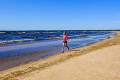 Petersburg Rosja 05 27 2018 Kitesurfing mistrzostwo Rosja obrazy royalty free