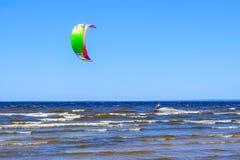 Petersburg Rosja 05 27 2018 Kitesurfing mistrzostwo Rosja Zdjęcie Royalty Free